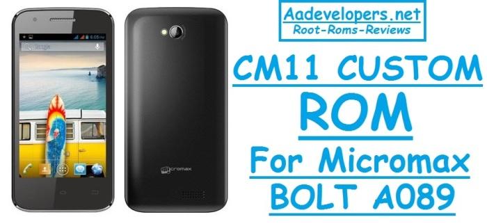 CM11 Kitkat Custom Rom For Micromax Bolt A089 – Aadevelopers